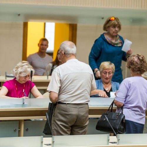 Išankstinis balsavimas prezidento ir EP rinkimuose  © Laimio Steponavičiaus nuotr.