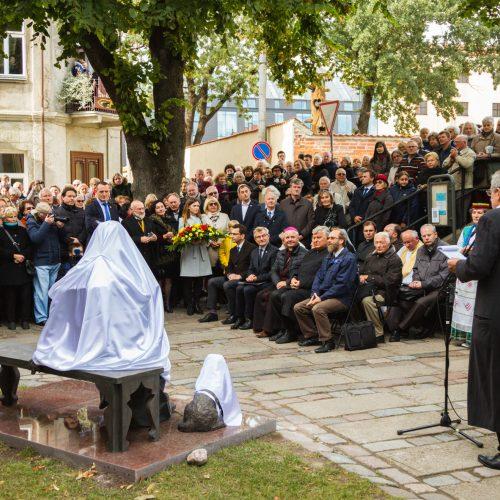 Kaune atidengtas paminklas J. Tumui-Vaižgantui
