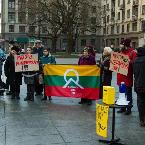 Protestas dėl Centrinio pašto išsaugojimo  © Laimio Steponavičiaus nuotr.