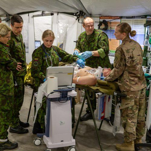 Karo medikai – didžiausiose NATO medicinos pratybose  © Lietuvos karo medicinos tarnybos nuotr.