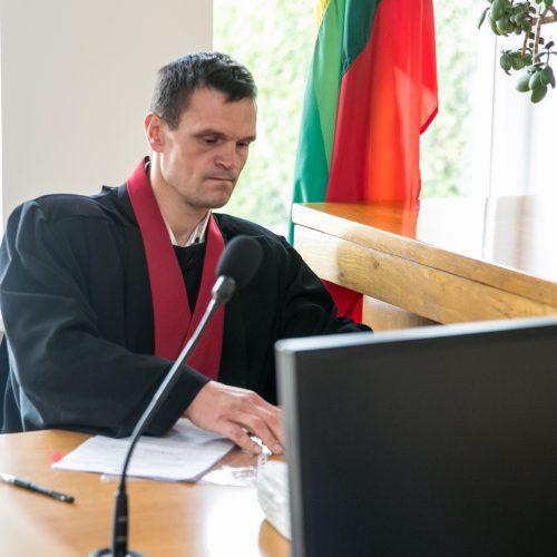 Kelių erelio I. Varaksino teismas  © Vilmanto Raupelio nuotr.