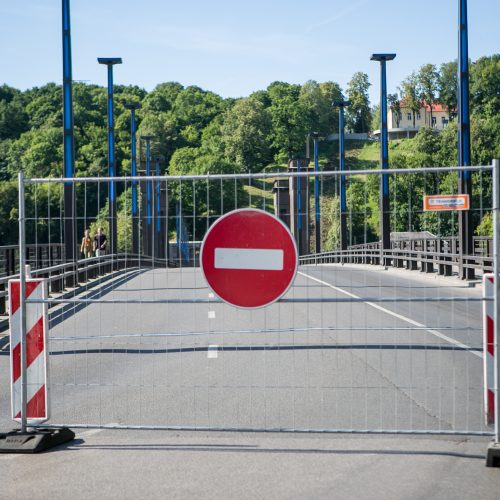 Uždarytas Aleksoto tiltas