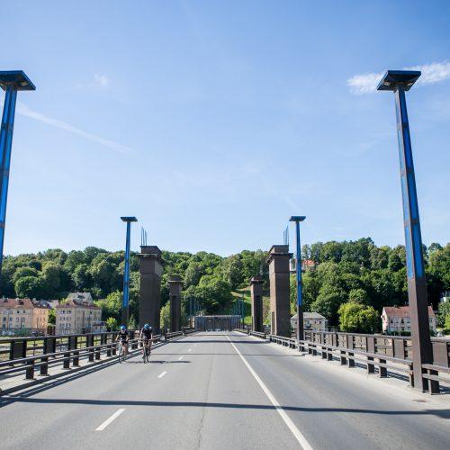 Uždarytas Aleksoto tiltas  © Vilmanto Raupelio nuotr.