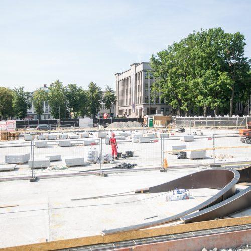 Vienybės aikštės rekonstrukcijos darbai  © Vilmanto Raupelio nuotr.