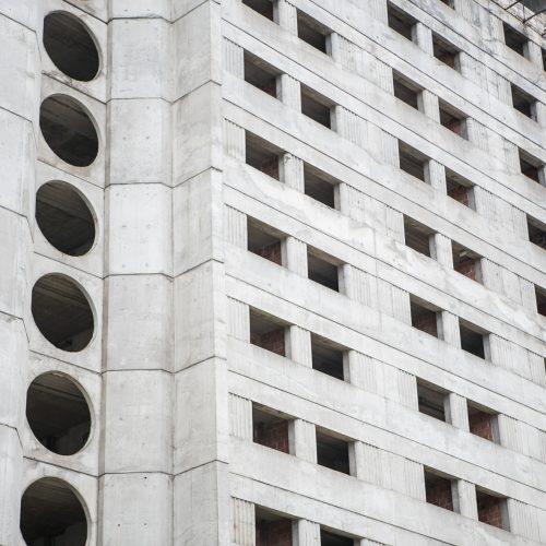 """Bus griaunamas """"Britanikos"""" viešbutis  © Vilmanto Raupelio nuotr."""