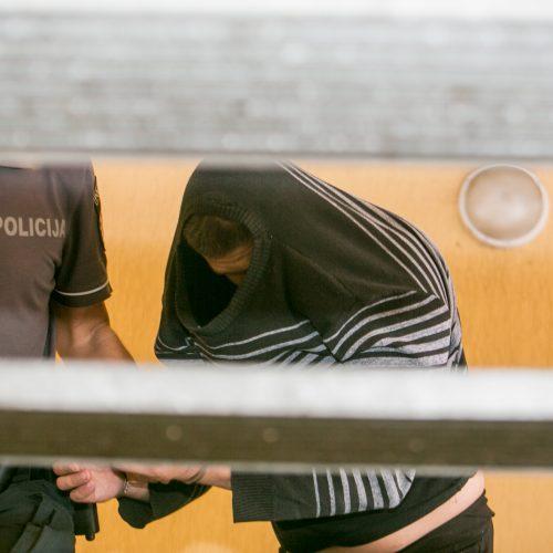 Žmogžudyste Kleboniškio miške įtariamas vyras atvestas į teismą  © Vilmanto Raupelio nuotr.
