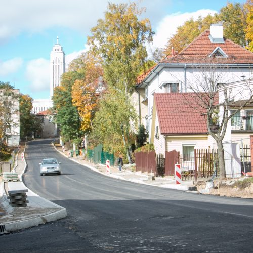 Po remonto atnaujintas eismas Žemaičių gatvės įkalne  © Vilmanto Raupelio nuotr.