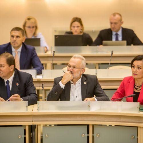 Kauno miesto tarybos posėdis <span style=color:red;>(2019 m. spalis)</span>  © Vilmanto Raupelio nuotr.
