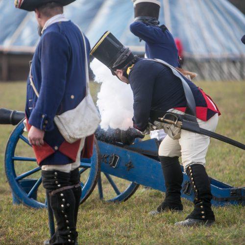 Napoleono armijos mūšio inscenizacija  © Vilmanto Raupelio nuotr.