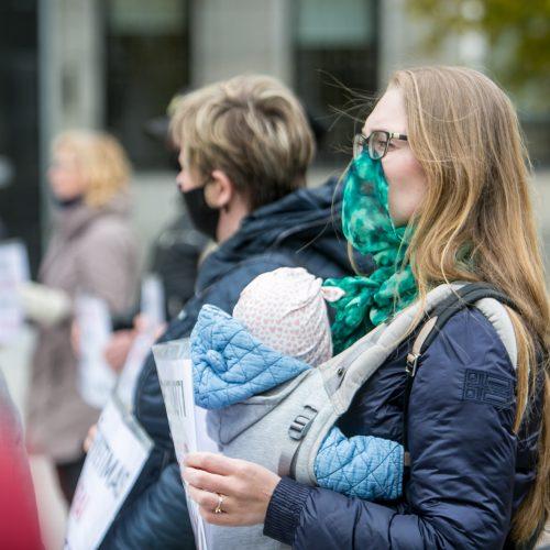 Kaune – antras tėvų protestas prieš vaikų testavimą  © Vilmanto Raupelio nuotr.