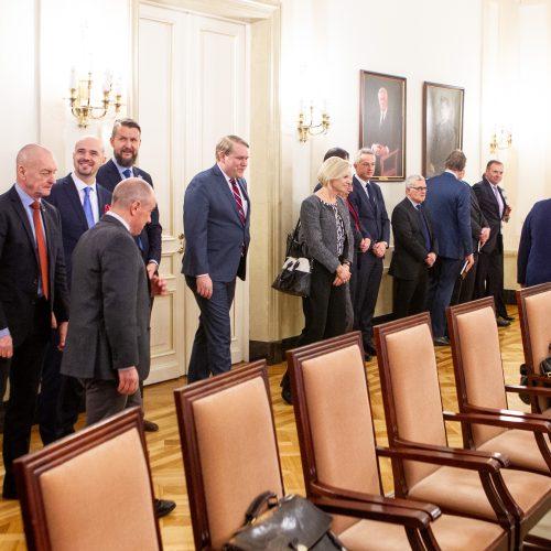 """Prezidentė kalbėjosi su """"Sniego susitikimo"""" dalyviais  © Pauliaus Peleckio / Fotobanko nuotr."""