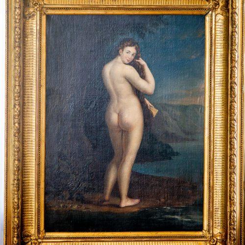 "Pristatytas J. Rustemo paveikslas ""Veneros gimimas""  © I. Gelūno / Fotobanko, D. Labučio / ELTOS nuotr."