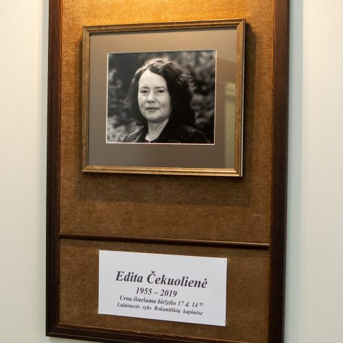 Atsisveikinimas su E. Čekuoliene