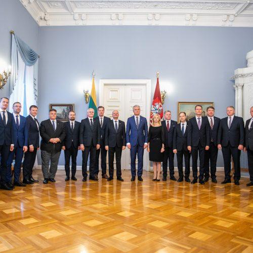 Prezidentas priėmė Vyriausybės narius