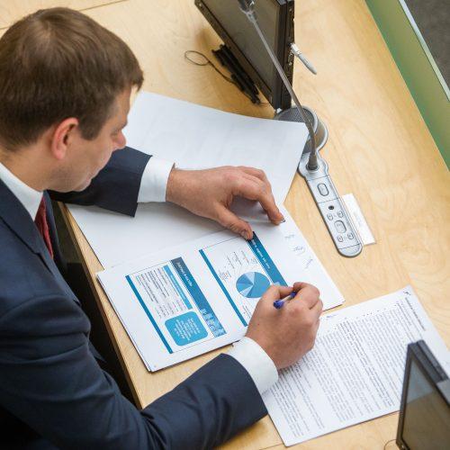 Antrasis 2020 metų biudžeto projekto svarstymas  © I. Gelūno / Fotobanko nuotr.