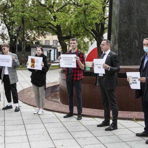 Sąjūdžio prieš Astravo AE protesto akcija
