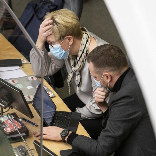 Seimo posėdis dėl 2021 metų biudžeto