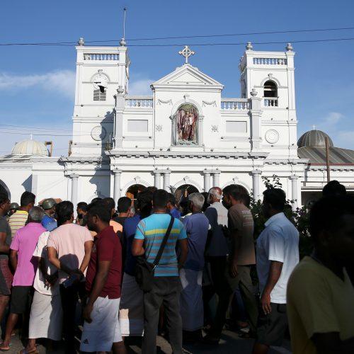 Sprogdinimai Šri Lankoje  © Scanpix nuotr.