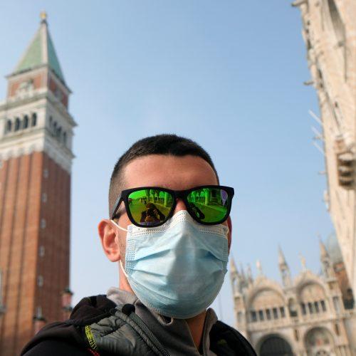 Koronaviruso protrūkis Šiaurės Italijoje  © Scanpix nuotr.