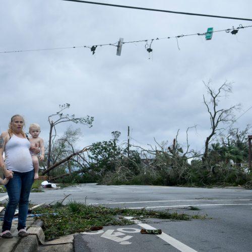 "JAV talžo uraganas ""Michael""  © Scanpix nuotr."