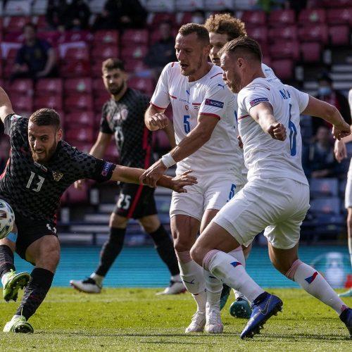 Europos futbolo čempionatas: Kroatija–Čekija 1:1