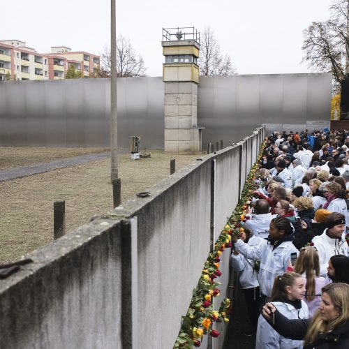 Berlyno sienos griūties 30-mečio minėjimas Vokietijoje  © Scanpix nuotr.
