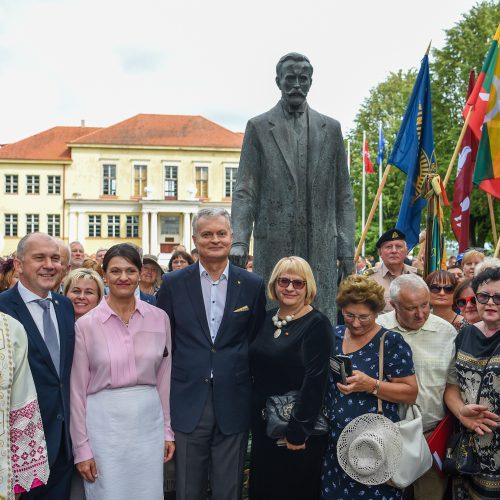 G. Nausėda atidengė A. Smetonos paminklą  © R. Dačkaus / LRP kanceliarijos nuotr.