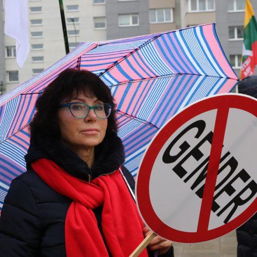 Prie LRT susirinko mitinguotojai  © D. Labučio / ELTOS nuotr.