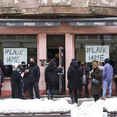 Lietuvoje protestavo barai, klubai ir restoranai