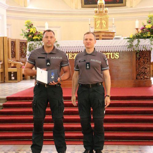 Kauno policijos pareigūnų priesaika ir apdovanojimai  © Policijos nuotr.