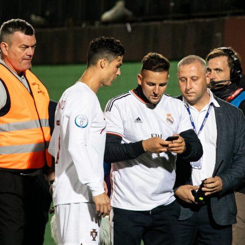 Futbolas: Lietuva – Portugalija 1:5  © B. Barausko ir I. Gelūno/Fotobanko nuotr.