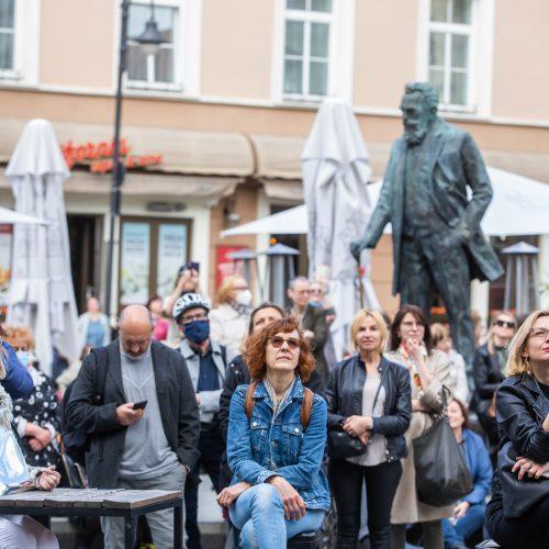 Smuikininko S. Krylovo muzikinė akcija  © I. Gelūno/Fotobanko nuotr.