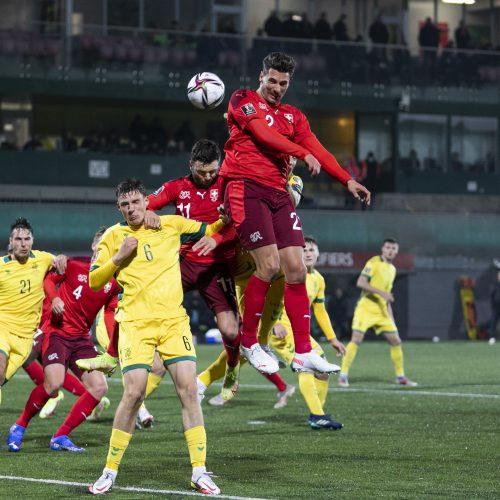Pasaulio futbolo čempionato atranka: Lietuva – Šveicarija 0:4  © L.Balandžio/Fotobanko nuotr.