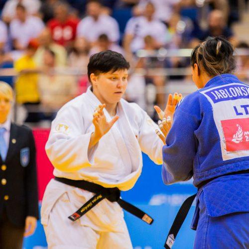 Lietuvos dziudo rinktinės kovos Europos žaidynėse  © K. Štreimikio/LTOK nuotr.