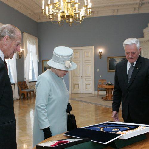 Mirė karalienės Elizabeth II sutuoktinis princas Philipas  © Scanpix ir Dž. G. Barysaitės/ LR prezidento kanceliarijos nuotr.