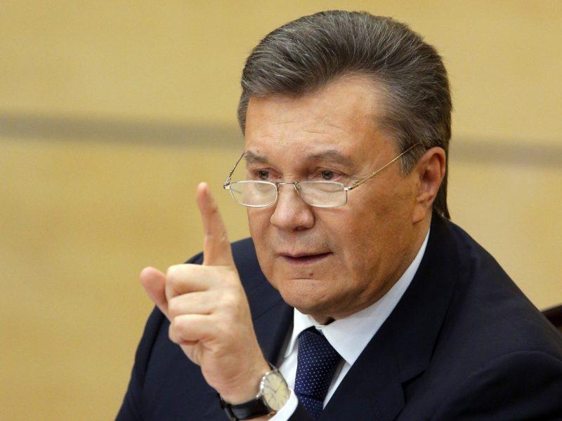 V. Janukovyčius pažėrė kaltinimų P. Porošenkai prieš artėjančius prezidento rinkimus