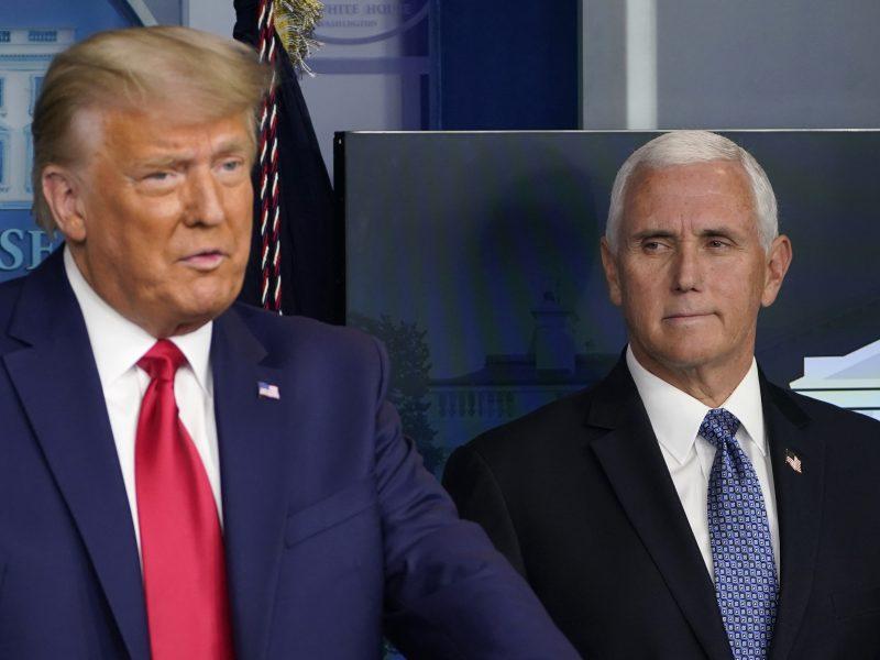 D. Trumpas paragino M. Pence'ą išdrįsti nepatvirtinti prezidento rinkimų rezultatų