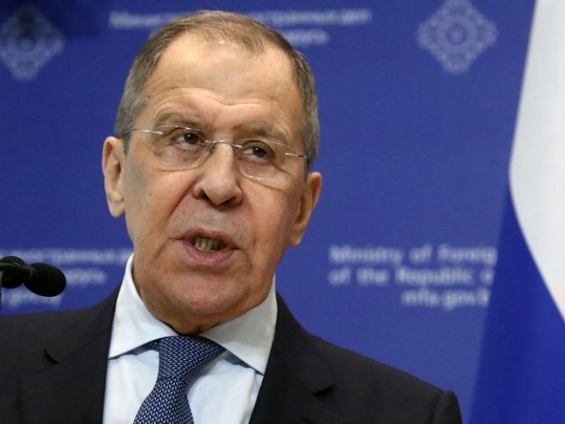 Rusijos diplomatijos vadovas kaltina Vakarus kišimusi į Baltarusijos reikalus