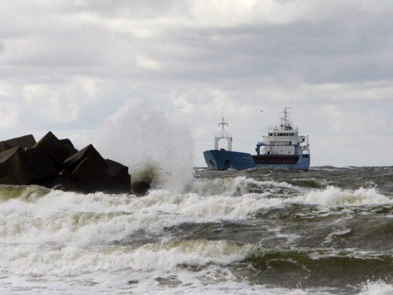 Klaipėdos uoste dėl vėjo apribota laivyba