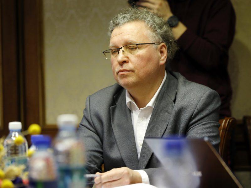 V. Grubliauskas susitiko su A. Mureika: derėjosi dėl senamiesčio grindinio