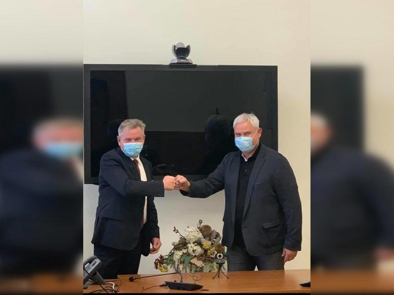 V. Grubliauskas ir J. Narkevičius aptarė problemas, susijusias su Rimkų pervaža