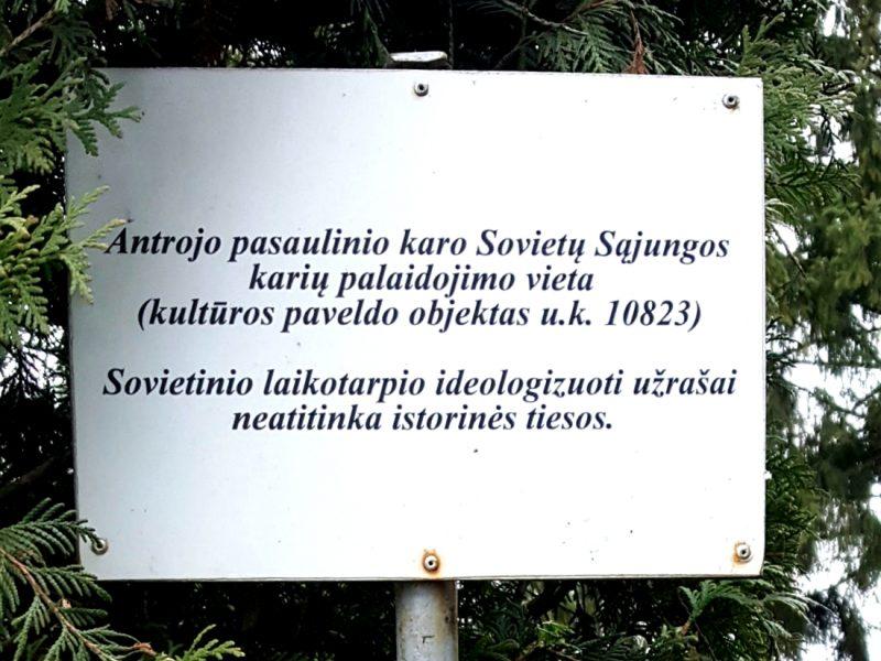Vienintelė Lietuvoje lentelė