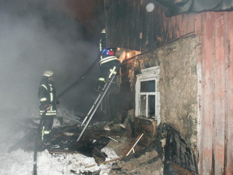 Vilniaus rajone naktį per gaisrą žuvo žmogus