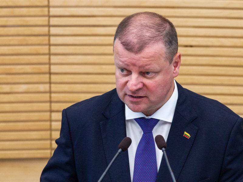 Premjeras apie naują frakciją Seime: kvaila būtų tokius žmones atstumti
