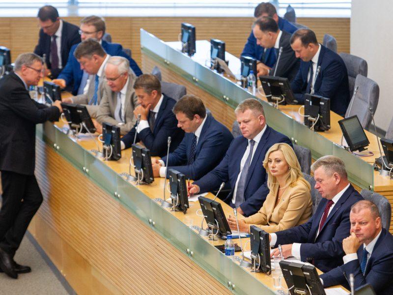 Opozicija surinko parašus: kreipsis į KT dėl Vyriausybės atnaujinimo