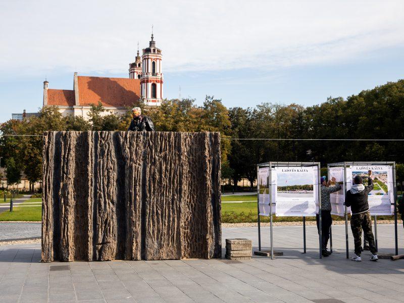 Laisvės kalvos maketas Lukiškių aikštėje
