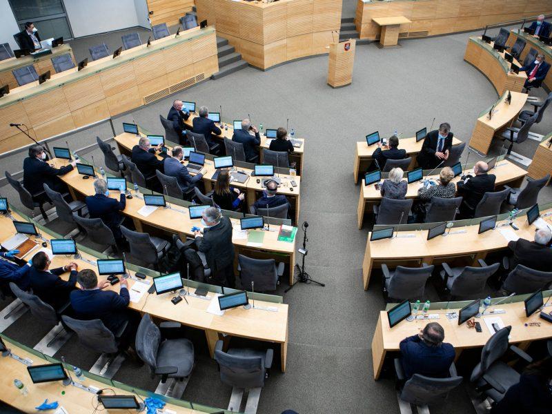 Naujų tautos atstovų Seime priesaika dėl pandemijos bus kitokia