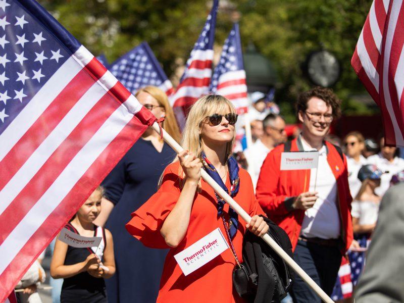 JAV Nepriklausomybės dienos paradas Vilniuje
