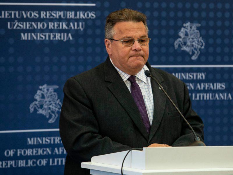 L. Linkevičius: Lietuva sieks paspartinti naujų sankcijų Baltarusijai įvedimą
