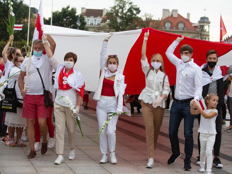 Solidarumo su Baltarusija akcija: vasario 7-ąją kviečia iškelti vėliavas